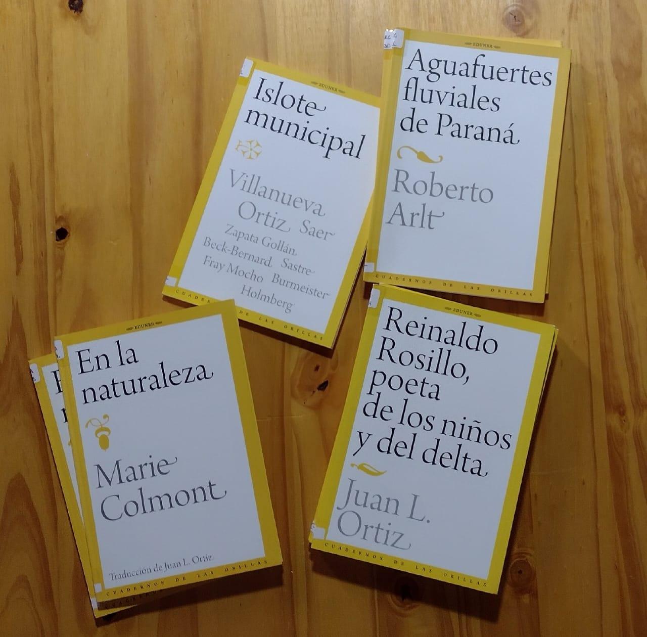 Libros de EDUNER de la colección Cuadernos de la Orillas